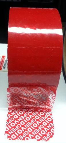 Cinta seguridad TT color rojo, 50 mts x 50 mm - ¡¡OPEN/VOID!!
