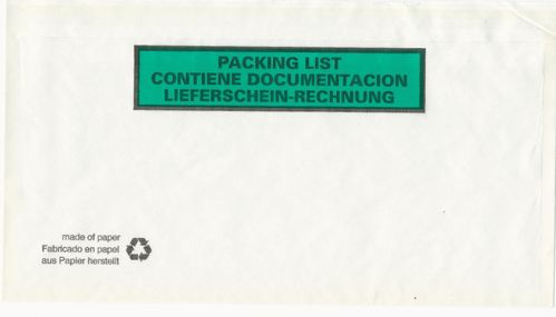 250 sobres PACKING LIST 228x120 mm ecologicos