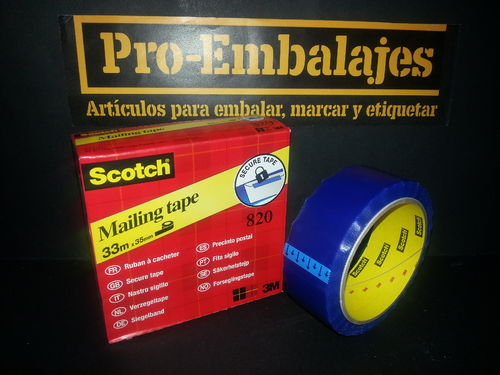 Cinta seguridad SCOTCH 820 - CINTA POSTAL.