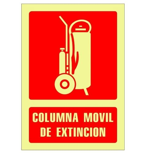Pictograma COLUMNA MOVIL EXTINCION fotoluminiscente